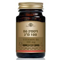 "ויטמין B6 פירידוקסין 100 מ""ג"