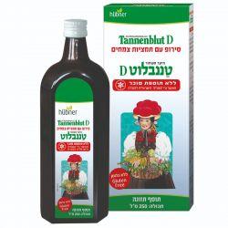 """טננבלוט D סירופ 250 מ""""ל (ללא סוכר)"""