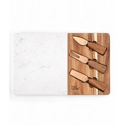 """סט גבינה עץ ושיש 35x23x1.3 ס""""מ DUO"""
