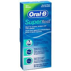 חוט דנטלי לגשרים וכתרים Oral-B Super Floss