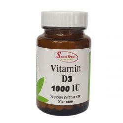 """טבליות ויטמין D3 לבליעה 1000 יחב""""ל"""