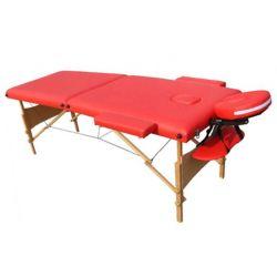 מיטת טיפולים מעץ אדומה