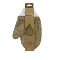ספוג כפפה משולב לאמבט (צבעים לבחירה)